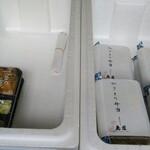 鳥藤 - 長生庵さんの海鮮かき揚げ丼&蕎麦セット 鳥藤さんの焼鳥弁当