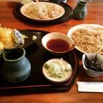 蕎麦きり 山都 - 天麩羅せいろ(大盛) ¥1,050+150-