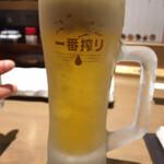 焼き鳥 きんざん - 生ビール(税込 583円×2=1,166円)評価=△