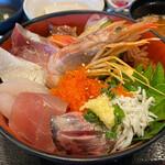 えぼし - 海鮮漁師丼定食 1530円。