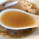 上田屋 - ラーメンのスープ