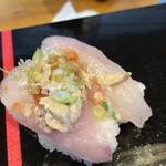 立ち食い弁慶 - 料理写真:カワハギ肝のせ