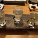 すし居酒屋 日本海 - 日本酒飲みくらべ