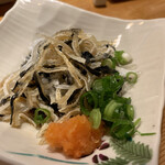 すし居酒屋 日本海 - フグ皮のポン酢