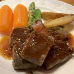 すし居酒屋 日本海 - 島根牛のサイコロステーキ