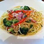 イタリアンガーヴィ - お気に入りのパンチェッタのアーリオ・オーリオ。