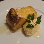 Teppan Dining L'ajitto - フレンチトーストのバニラアイス添え