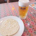ヒマラヤ - 料理写真:ビールとパパド