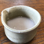 専心庵 - 蕎麦湯