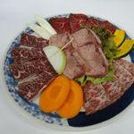 焼肉 高麗苑 - おすすめ4点盛合せ(上タン塩、和牛カルビ、ハラミ、ロース)