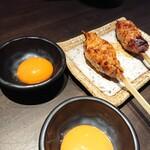 博多串焼と刺身 ココロザシ - 月見つくね(275円/本)