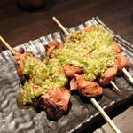 博多串焼と刺身 ココロザシ - レバテキ(198円/本)