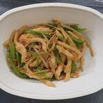 泰山北斗 - 料理写真:鶏肉とピーマンの細切り炒め