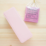 山本道子の店 - 開けると淡いピンク色の缶が。