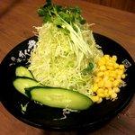 伝説のすた丼屋 - サラダ(150円)!(2012,05/27)