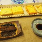 131926032 - 玉子焼き、油揚げ、鰊煮