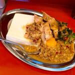 立川マシマシ - マシライスの豪華版、暴君セットのライスを豆腐に変更