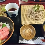 わさび居酒屋 あな蔵 - 海鮮丼ざる蕎麦セット