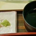 七福 - 「薬味&つけ汁」です