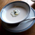 グランパ   - 「ズッキーニの冷たいスープ」。コレ絶品! ズッキーニってこんなに美味しかったの??
