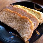 グランパ   - パンは3食。フワフワでそれぞれの味が楽しめました。
