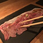 なっぱjuicy - 【A4ランク和牛サーロイン特大炙り寿司】デカイ!