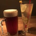 なっぱjuicy - 生ビールと自家製はちみつレモネードで乾杯