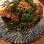 なっぱjuicy - 【鶏のざくざく揚げ 葱たっぷりソース】
