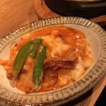 なっぱjuicy - 【豆たちのアメリケーヌソースドリア】取り分け後