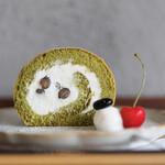 キッサ マシマロ - 2020年6月再訪:抹茶と黒豆のロールケーキ☆