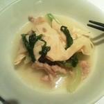 13194426 - 青菜と豆腐皮の炒め