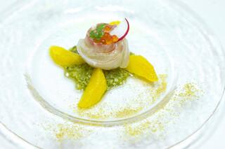 メリメロ亭 - (季節の鮮魚)ヒラメのカルパッチョ