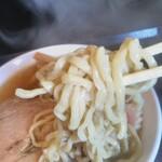 131948778 - 極太ちぢれ麺 (麺の持ち方いまいちですみません)
