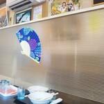 131948781 - テーブル対面側のお客様との飛沫防止アクリル板