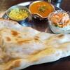 ラクシュミー - 料理写真:プレートより、ナンの方が大きくない?