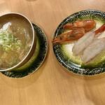 鮨八  - あら汁と赤えび