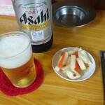 131958273 - 瓶ビール&通し