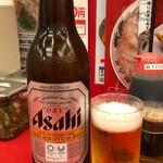 ラーメン魁力屋 - 瓶ビール大瓶500円税抜