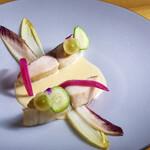 シェ オリビエ - 料理写真:天然サワラ、茄子とマスカット