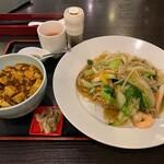131965510 - フライ麺+ミニ麻婆丼