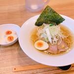 麺家 しゅんたく - 塩ラーメン 鶏清湯 トッピング卵
