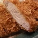 とんかつ林家 - 料理写真:田原豚のロースかつ定食(120g)です。ゆず塩でお召し上がりください。
