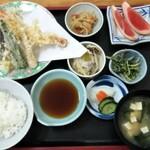 寿多庵 - 季節の天ぷら定食2,000円