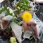寿多庵 - 旬の刺身盛合せ4種類