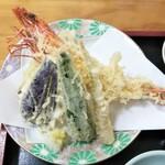 寿多庵 - 季節の天ぷら盛合せ5種類