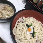 鴨錦 - 二色うどん(細&太うどん)