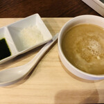 麺屋 號tetu - 限定ラーメン 味噌ホワイトのつけ汁