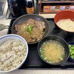 吉野家 - 料理写真:牛たん麦とろ御膳(954円)