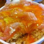 みなと食堂 - 卵、わさびを混ぜて2012.5