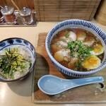 131996626 - とり玉そば + 鶏飯